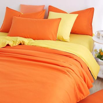 Cool UNIKEA 2016 New Minimalist Pure Style Bedding Sets Bed Sheet and Duver Quilt Cover Pillowcase Soft and Comfortable King Queen FuAT_93_12