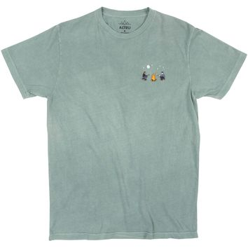 Campfire Site embroidered emerald graphic tee