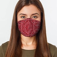 Red Bandana Preventative Face Mask
