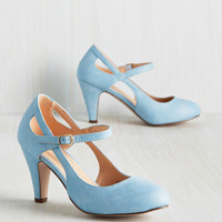 Fountain of Truth Heel in Dusty Blue