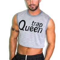 Trap Queen Crop Tank- Grey