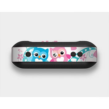 The Pink & Blue Vector Love Birds Skin Set for the Beats Pill Plus