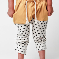 Mickey Yellow Harem Pants | Unisex Kids