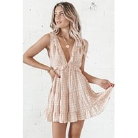 Pretty Girl Summer Sand Ruffled Dress