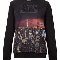 NYC MESH PRINT SWEATSHIRT - Mens Hoodies & Sweatshirts - Clothing