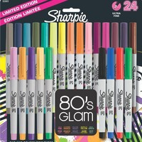 Sharpie Ultra Fine Point Permanent Markers, 24-Pack, 80's Glam Assorted Colors (32893PP)