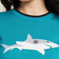 Lookin' Shark! Knit Sweater in M