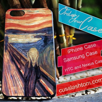 Exclusive The Scream Edward Munch iPhone for 4 5 5c 6 Plus Case, Samsung Galaxy for S3 S4 S5 Note 3 4 Case, iPod for 4 5 Case, HtC One M7 M8