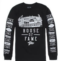 Hall of Fame House Of Fame Long Sleeve T-Shirt - Mens Tee - Black