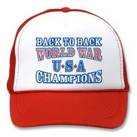 Vintage USA Back to Back World War Champions Hat from Zazzle.com