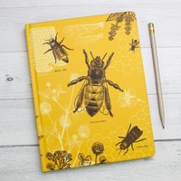 Bees Hardcover - Dot Grid