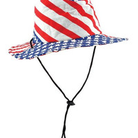 Patriotic Flag Hat (stars & stripes design) Party Accessory  (1 count)