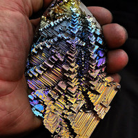 The Many Paths to Heaven, Large Bismuth Metal Crystal, Iridescent, Fractal, Unique Art Sculpture