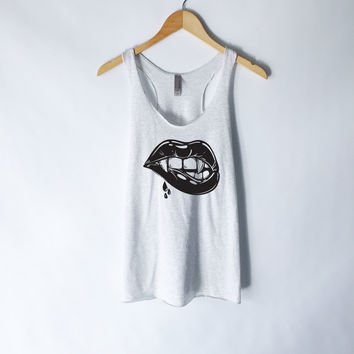 Juicy Vampire Lips Tank Top for Women