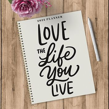 Love the Life Large Weekly Monthly Planner + Coordinating Planning Stickers