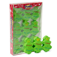 Peeps Marshmallow Christmas Trees Candy 9-Packs: 24-Piece Case