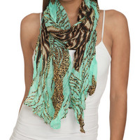 Bright Crinkle Leopard Scarf   Shop Accessories at Wet Seal