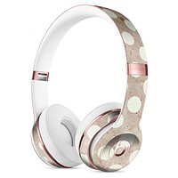 Grungy brown and White Polka Dots Full-Body Skin Kit for the Beats by Dre Solo 3 Wireless Headphones
