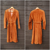 1970's Snakeskin + Suede Jacket, Boho Brown Suede Leather Jacket, Gabriel Levy Suede Trench Coat, Minimalist 80's Jacket, Small Medium