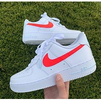 NIKE Air force 1 Nike Sb Dunk Low Pro Hot sale classic color matching casual shoes for men and women Shoes sports shoes sneakers Whire&Red hook