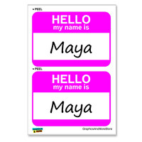 Maya Hello My Name Is - Sheet of 2 Stickers