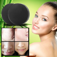 Activated Charcoal Crystals Handmade Soap Face Skin Whitening Soap For Remove Blackhead and Oil Control Washing H78