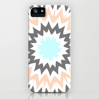 Baby Blue to Peach iPhone & iPod Case by Abstracts by Josrick
