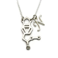MDMA Necklace Initial Necklace Molly Necklace Science Necklace Letter Molly Jewelry Chemistry Jewelry Chemistry Necklace MDMA Jewelry