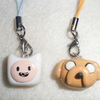 Finn and Jake (from  Adventure Time), Charm with Cell Phone Strap