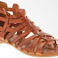 Women's Brown Genuine Woven Leather Sandals Huaraches Comfortable Shoes