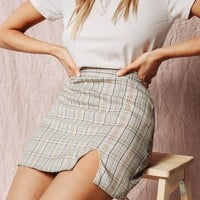 VG The Edit Check Mini Skirt