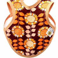 Baby Bib Sunflowers, Sunflower Baby clothes, Hippie Baby Clothes, Baby Girl Bib, Drool Bapron, Baby Apron, Sunflowers, Baby Gift