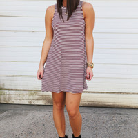 Lindy Swing Dress {Maroon}