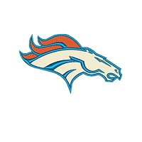 """Patch Craft - Denver Broncos- (3""""x1.8"""" Complete stitches Iron On patch)"""