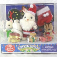 CALICO CRITTERS OF CLOVERLEAF CORNERS 2014 LIMITED EDITION MERRY CHRISTMAS SET
