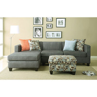 Anthony Charcoal Sectional Sofa Set   Overstock.com
