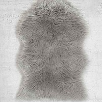 Faux Sheepskin Shaped Rug