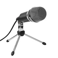 USB Microphone,Fifine Plug &Play Home Studio USB Condenser Microphone for Skype, Recordings for YouTube, Google Voice Search, Games(Windows/Mac)-K668