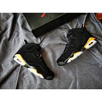 Air Jordan 6 Retro Black/Gold Basketball Shoes