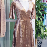 Velvet Yuletide Party Dress