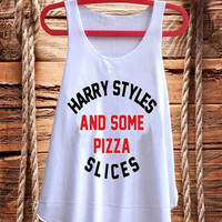 Harry Styles and Some Pizza Slices best design for Tank top mens and Tank top Girls fashion