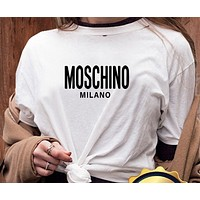 Louis Vuitton/MOSCHINO/Fendi/Givenchy/ Women Men Hot Tunic T-shirt