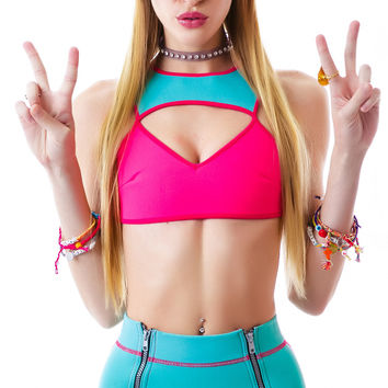 This Is A Love Song Time Frame Bikini Pink/Blue