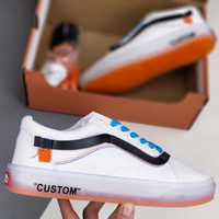 VANS OFF WHITE  Crystal transparent bottom Fashionable casual shoes