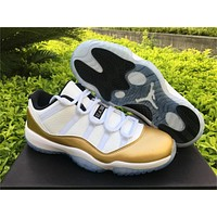 Air Jordan 11 Low Metallic Gold Sneaker 36-47