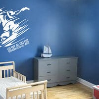 Custom Snowboarder Decal - Personalized Dog - Wall Art - Kids Room - Custom Kid Name - Custom Decal - Gift Idea - Kids Room Decor - Playroom