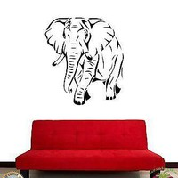 Wall Sticker African Animal Elephant Cool Decor for Living Room Unique Gift z1436