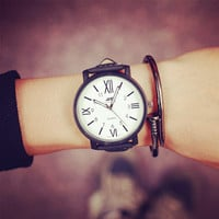 Comfortable Vintage Fashion Quartz Classic Watch Round Ladies Women Men wristwatch On Sales (With Thanksgiving&Christmas Gift Box)= 4662250628