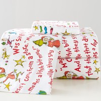 Grinch™ Words Of Who-Ville Flannel Sheet Set