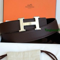 BRAND NEW AUTHENTIC HERMES REVERSIBLE TOGO LEATHER BELT KIT CONSTANCE 85 R STEMP
